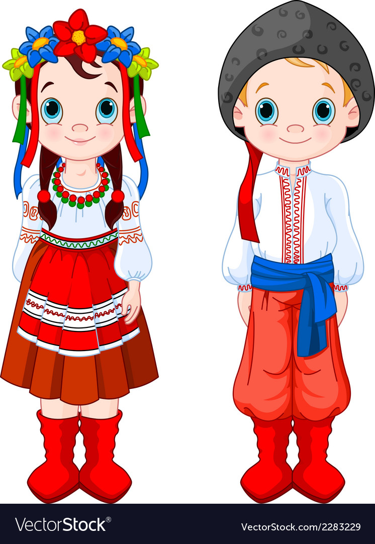 Ukrainian boy and girl vector | Price: 3 Credit (USD $3)