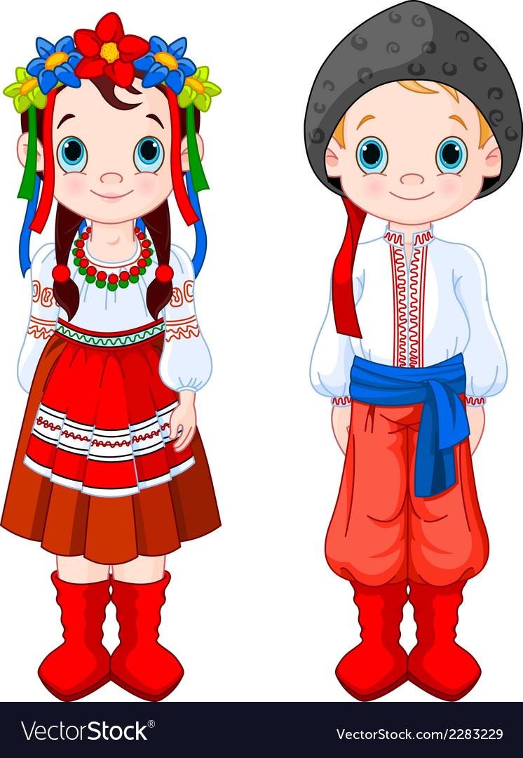 Ukrainian boy and girl vector | Price: 3 Credit (USD $3)