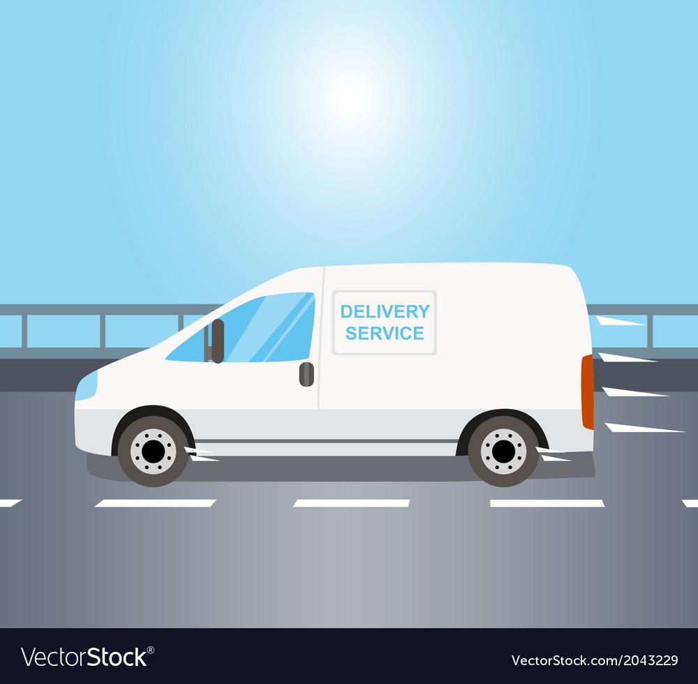 White delivery van vector | Price: 1 Credit (USD $1)