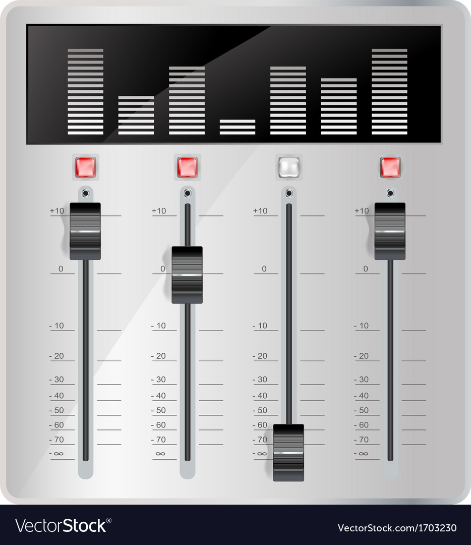 Audio mixing panel vector | Price: 1 Credit (USD $1)