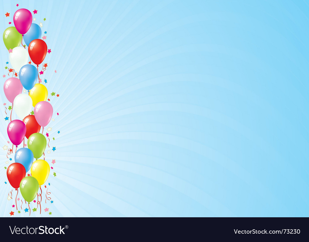 Balloons against blue sky vector | Price: 1 Credit (USD $1)