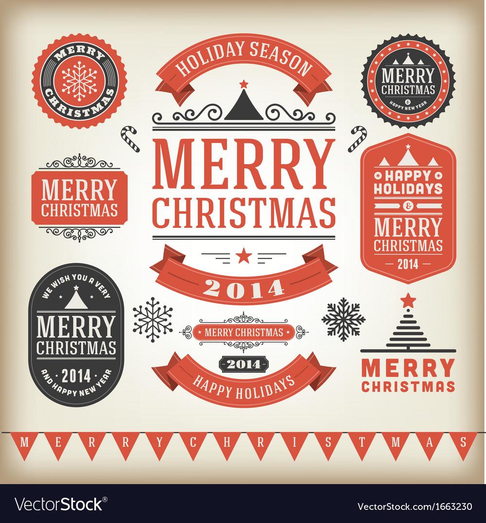 Christmas decoration design elements vector | Price: 1 Credit (USD $1)