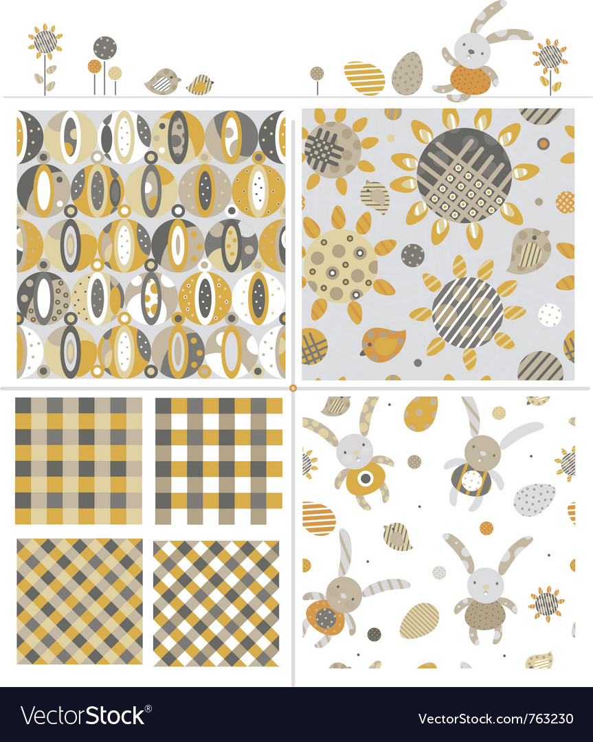 Cute patterns and elements vector | Price: 1 Credit (USD $1)