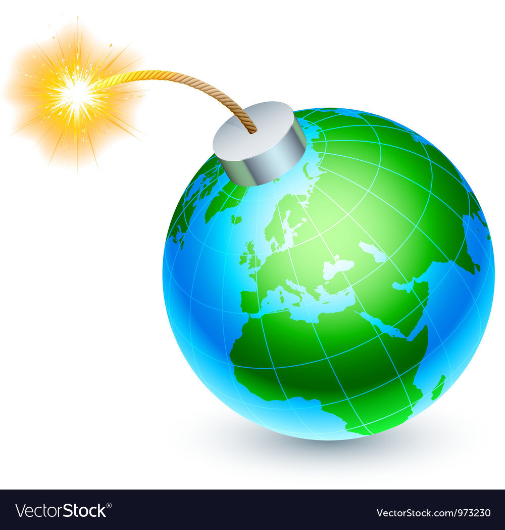 Earth bomb concept vector | Price: 1 Credit (USD $1)