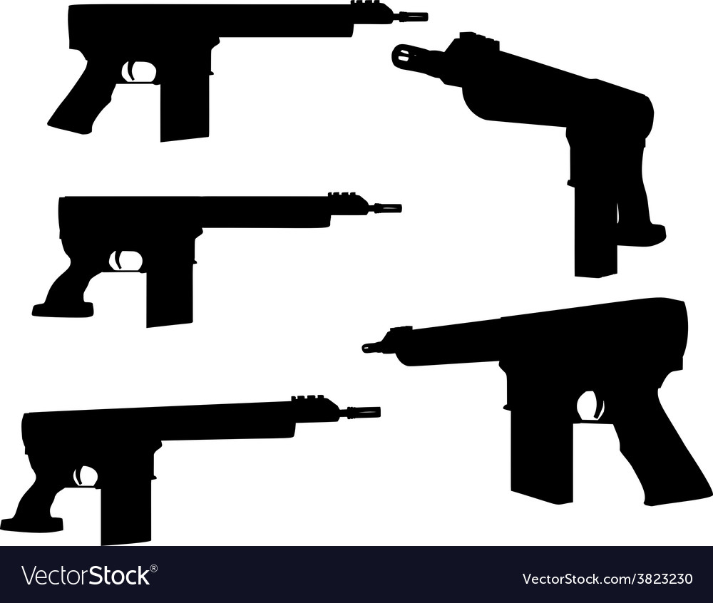 Firearm silhouette vector | Price: 1 Credit (USD $1)