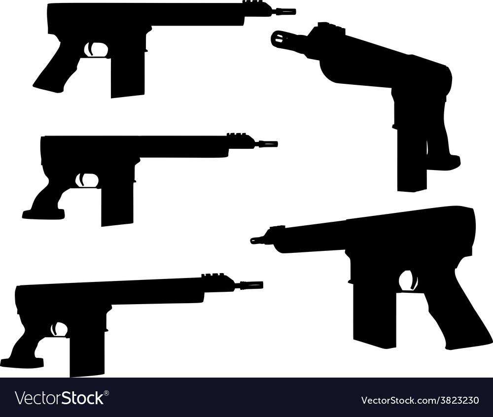 Firearm silhouette vector