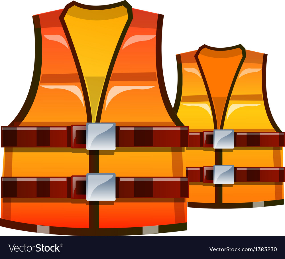 Icon safety vest vector | Price: 1 Credit (USD $1)