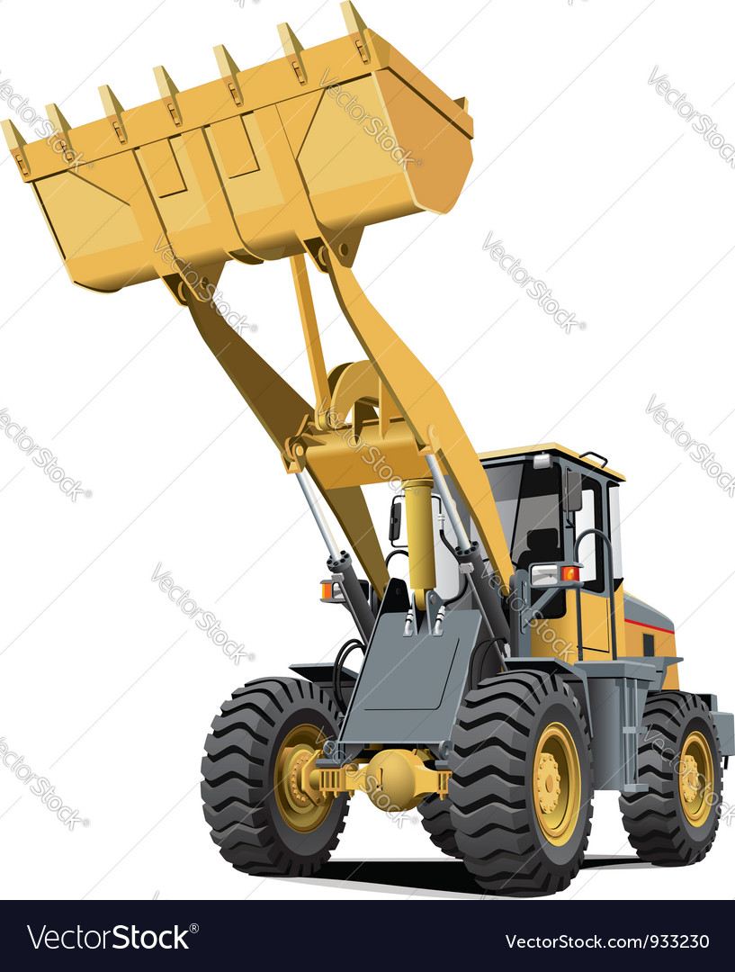 Light brown front end loader vector | Price: 5 Credit (USD $5)