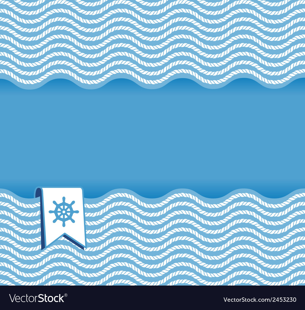 Marine background with ropes vector   Price: 1 Credit (USD $1)