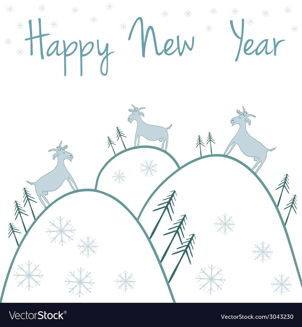 New year postcard vector   Price: 1 Credit (USD $1)