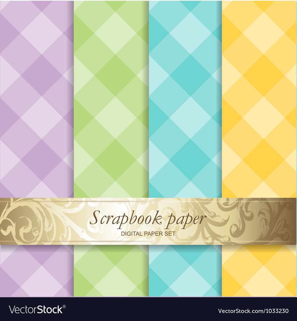Pattern scrapbook paper vector | Price: 1 Credit (USD $1)