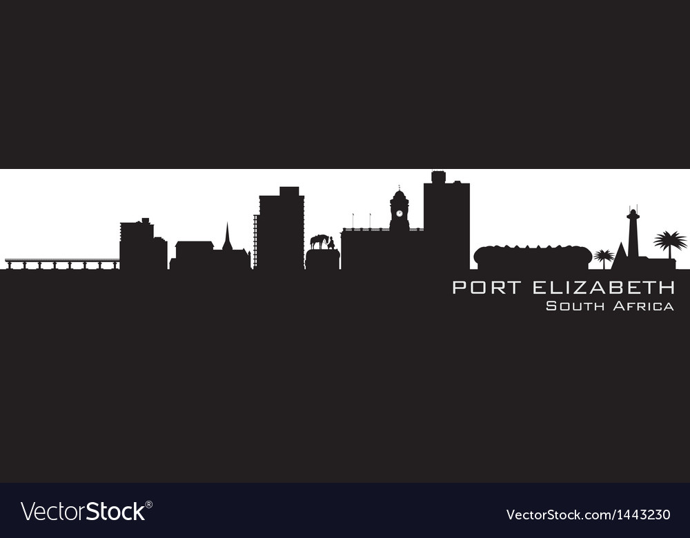 Port elizabeth africa city skyline silhouette vector | Price: 1 Credit (USD $1)