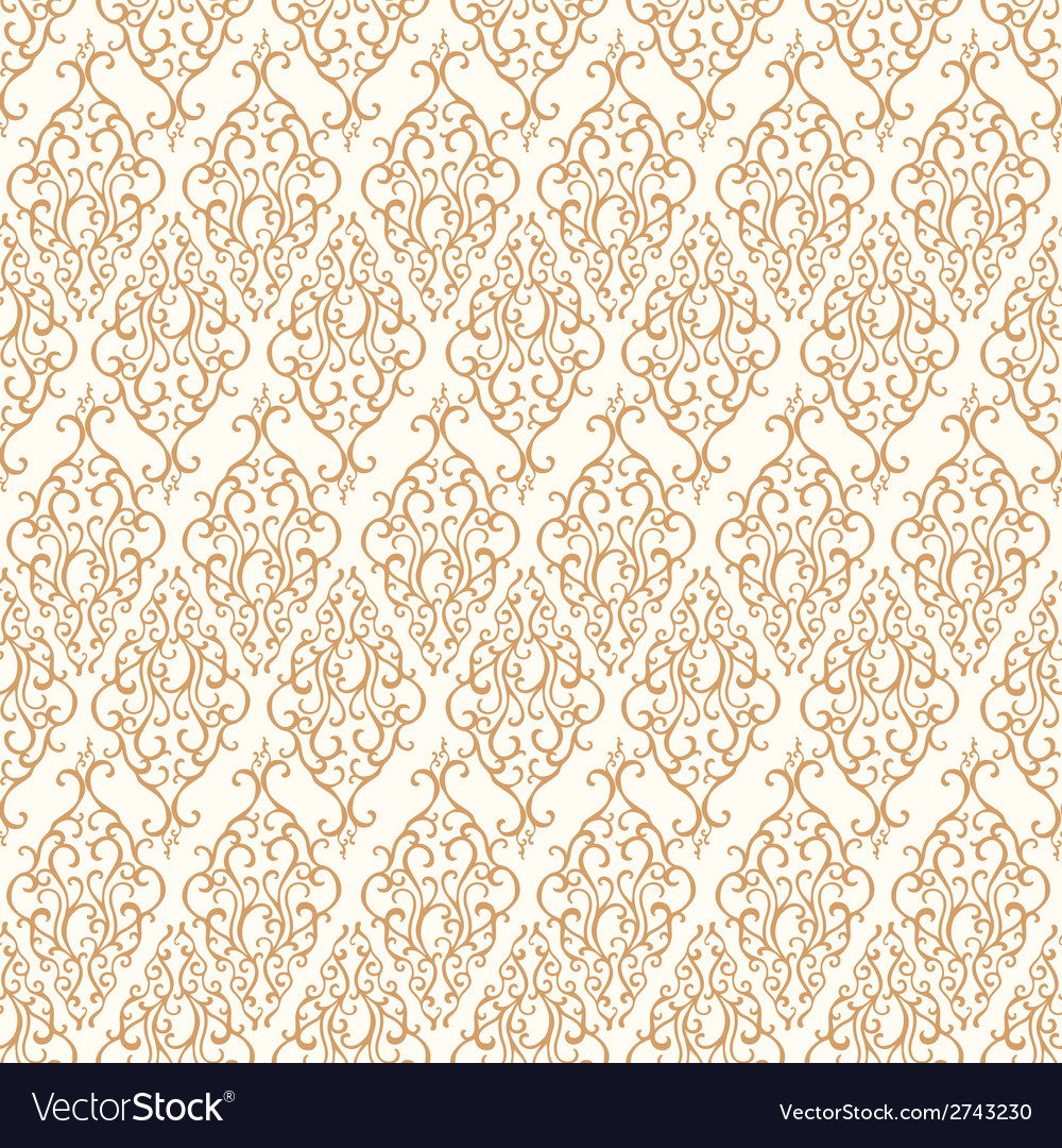 Seamless pattern with abstract damask doodle vector | Price: 1 Credit (USD $1)