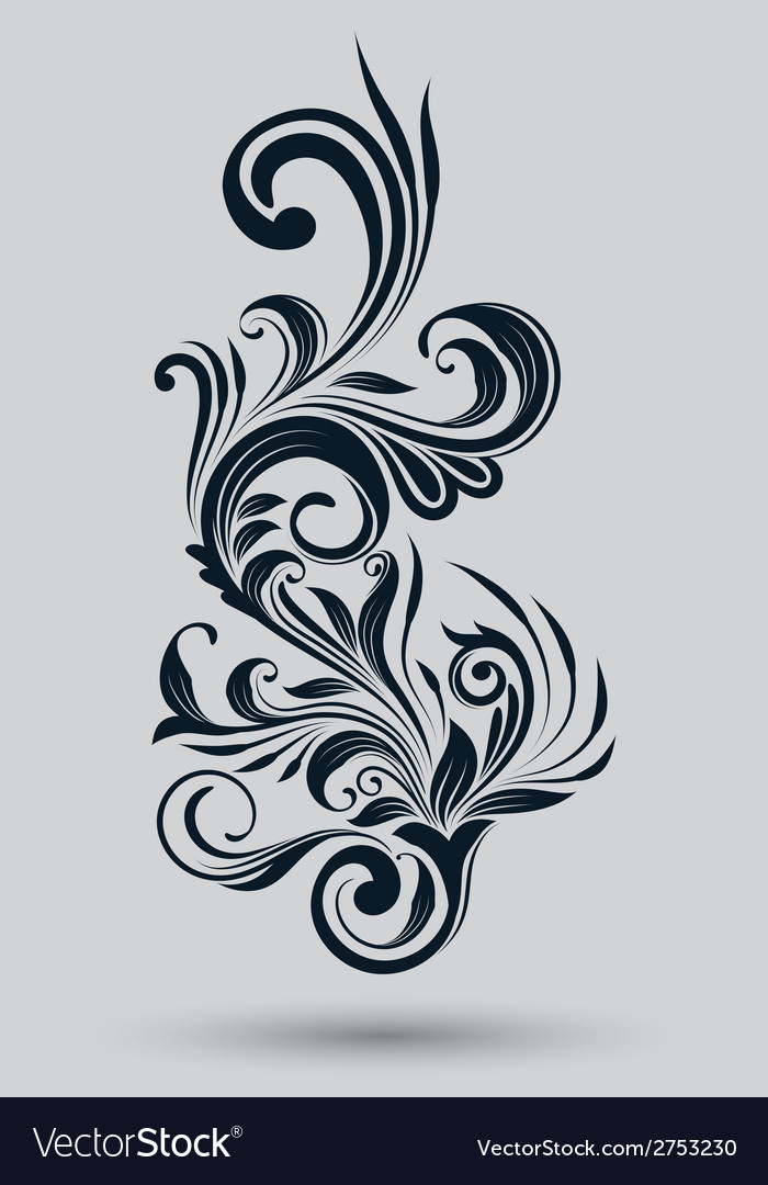 Single floral ornamental vector | Price: 1 Credit (USD $1)