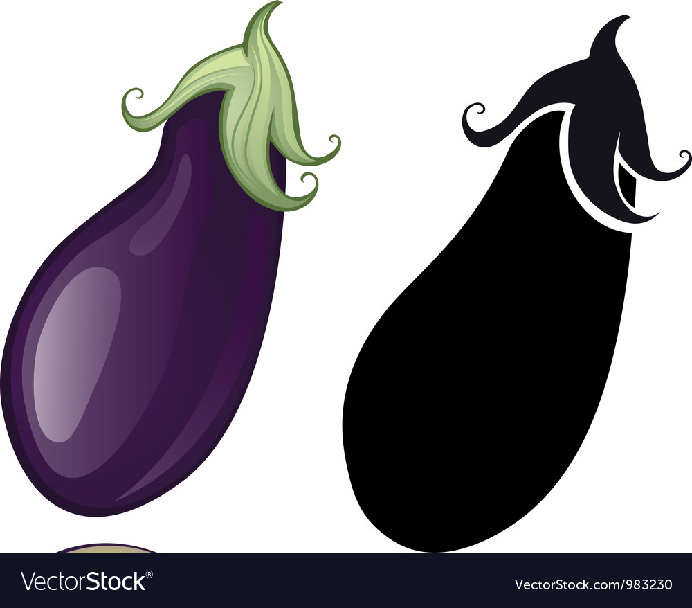 Stylized eggplant vector | Price: 1 Credit (USD $1)