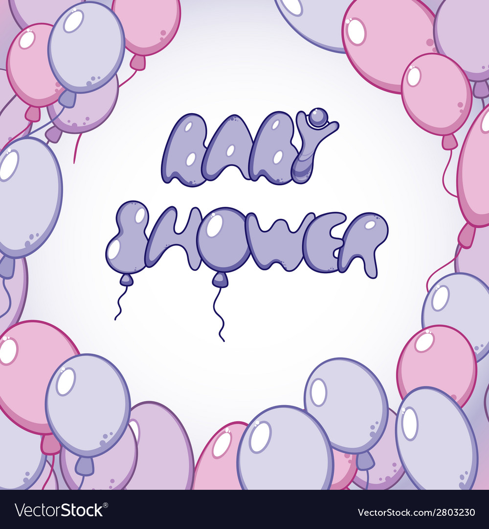 Template for baby shower card vector | Price: 1 Credit (USD $1)