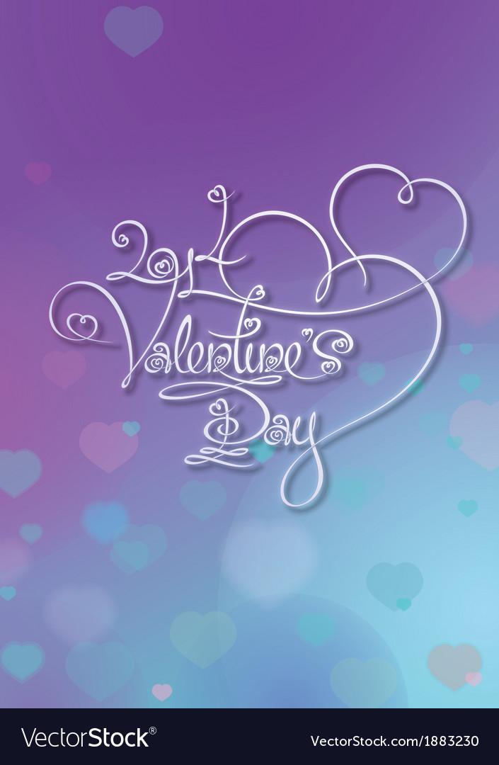 Valentines card 2014 valentines day purple blue vector | Price: 1 Credit (USD $1)