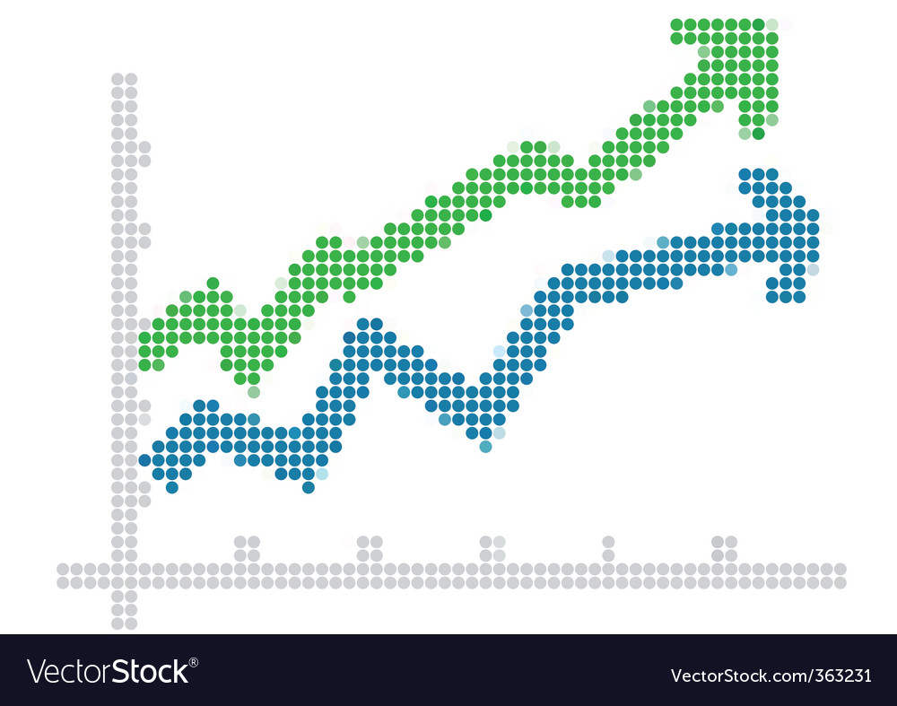 Dot style chart vector | Price: 1 Credit (USD $1)