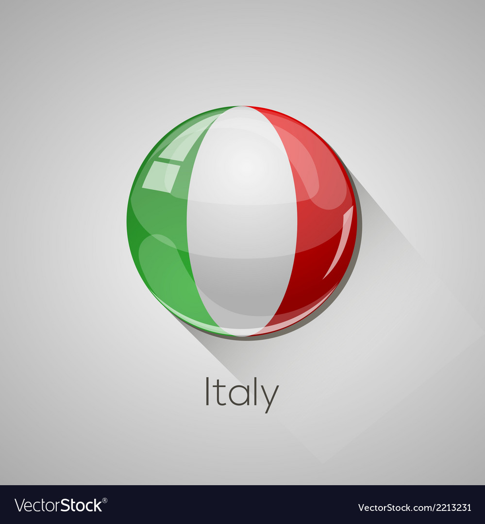 European flags set - italy vector | Price: 1 Credit (USD $1)