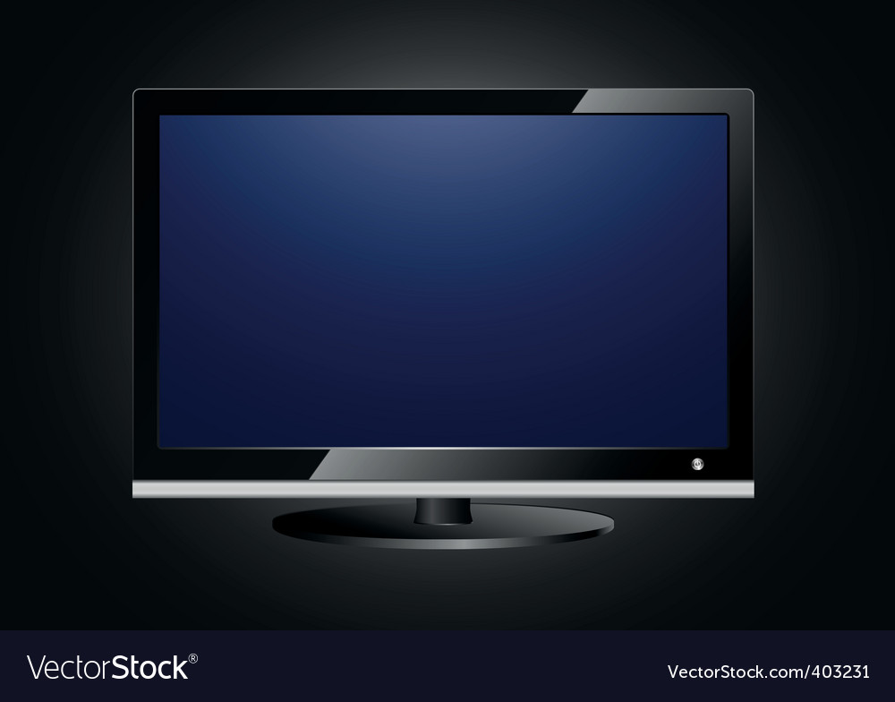 Flat screen tv vector | Price: 1 Credit (USD $1)
