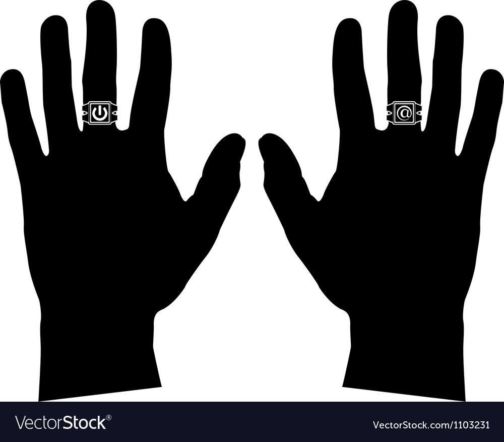 Hands with rings stencil vector | Price: 1 Credit (USD $1)