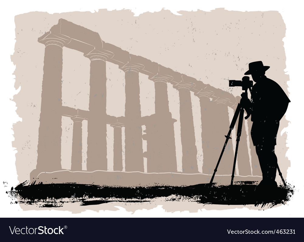 Photographer with historical vector | Price: 1 Credit (USD $1)