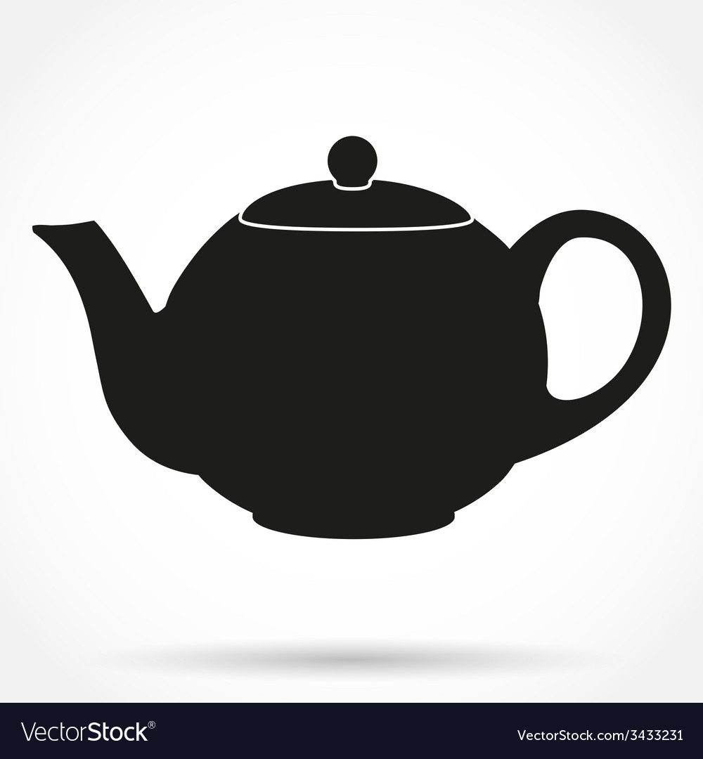 Silhouette symbol of classic teapot vector | Price: 1 Credit (USD $1)