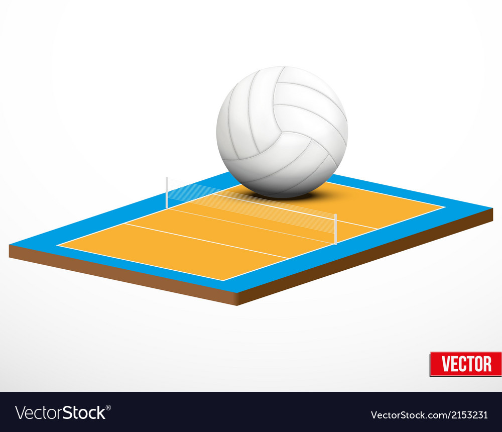 Symbol of a volleyball game and field vector | Price: 1 Credit (USD $1)