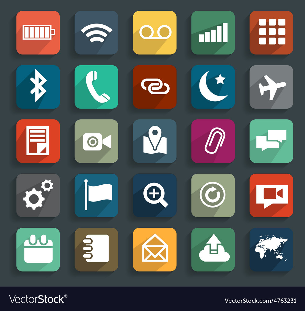 Technology business flat icons modern template des vector | Price: 1 Credit (USD $1)