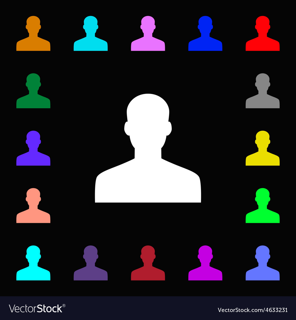 User person log in icon sign lots of colorful vector   Price: 1 Credit (USD $1)
