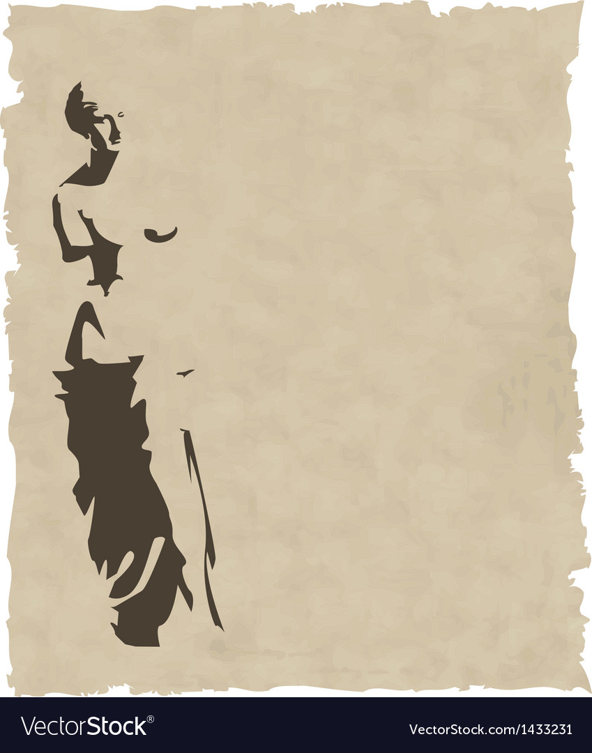 Venus silhouette on old paper vector | Price: 1 Credit (USD $1)