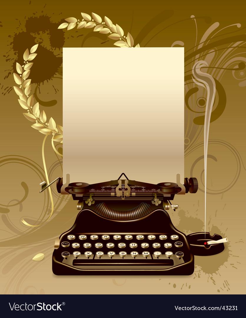 Vintage typewriter vector   Price: 3 Credit (USD $3)