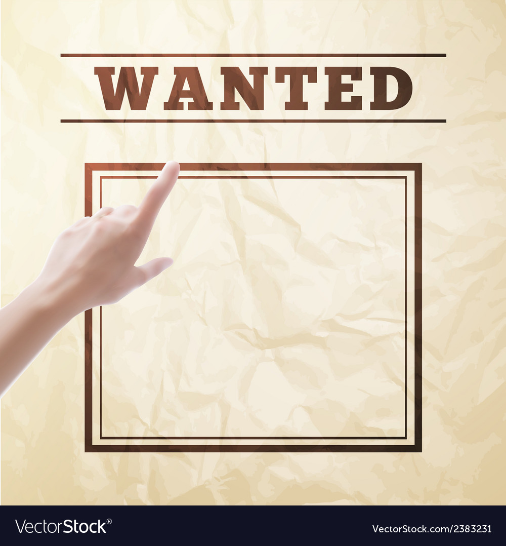 Wanted sign vector | Price: 1 Credit (USD $1)