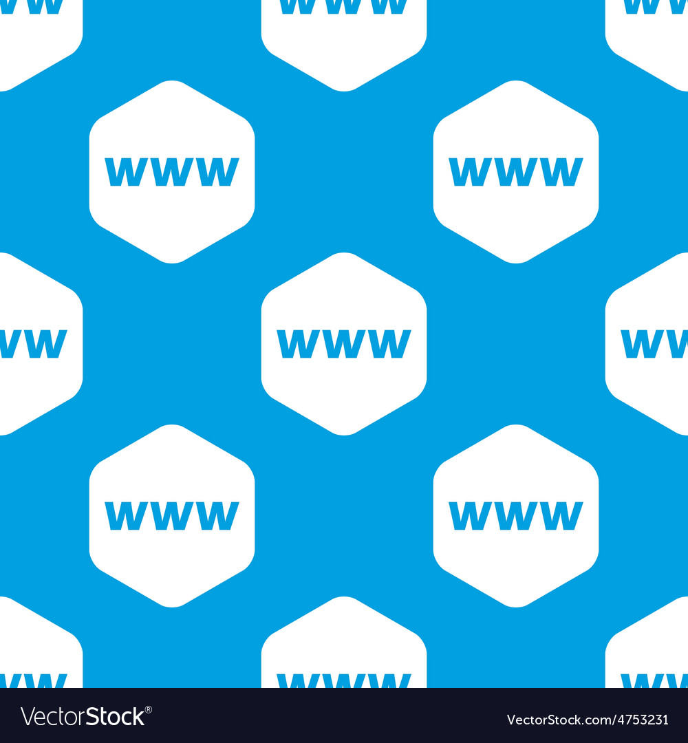 Www hexagon pattern vector | Price: 1 Credit (USD $1)