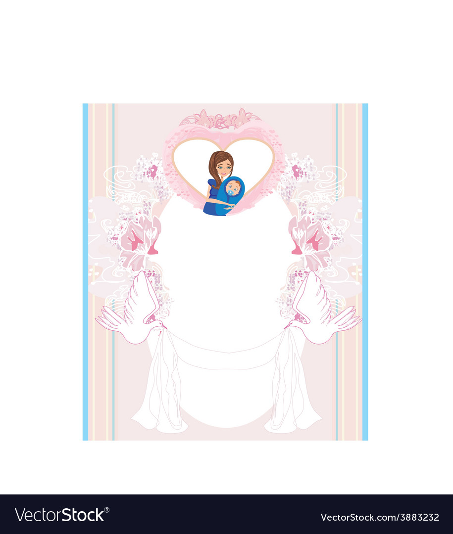 Baby shower card vector   Price: 1 Credit (USD $1)