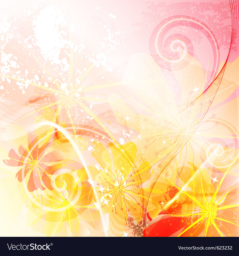 Colorful floral background vector | Price: 1 Credit (USD $1)