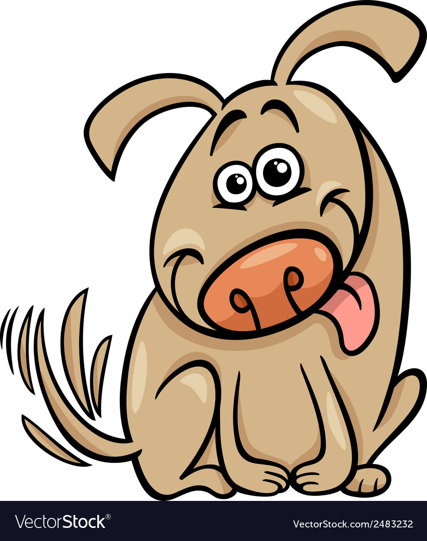 Funny dog cartoon vector | Price: 1 Credit (USD $1)
