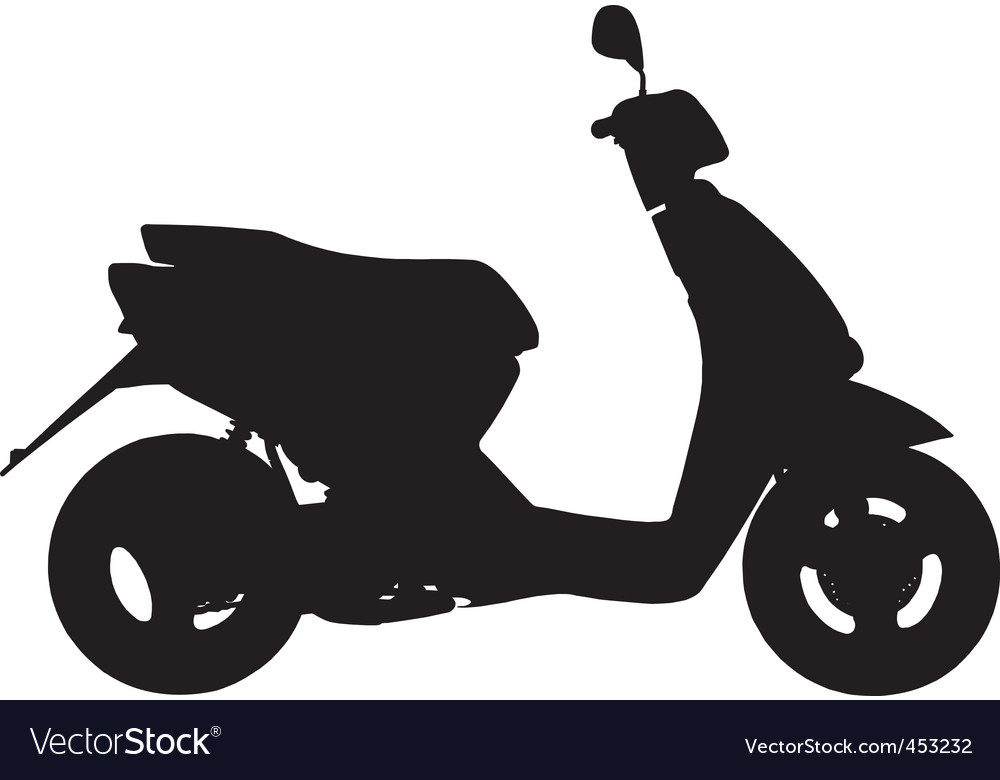 Moped vector | Price: 1 Credit (USD $1)