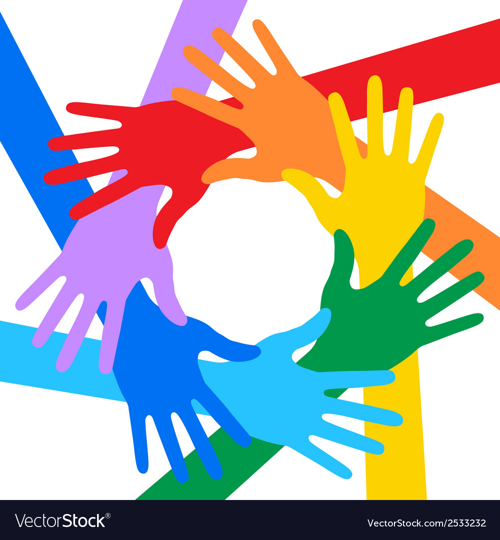 Rainbow colors hands icon for your design vector | Price: 1 Credit (USD $1)