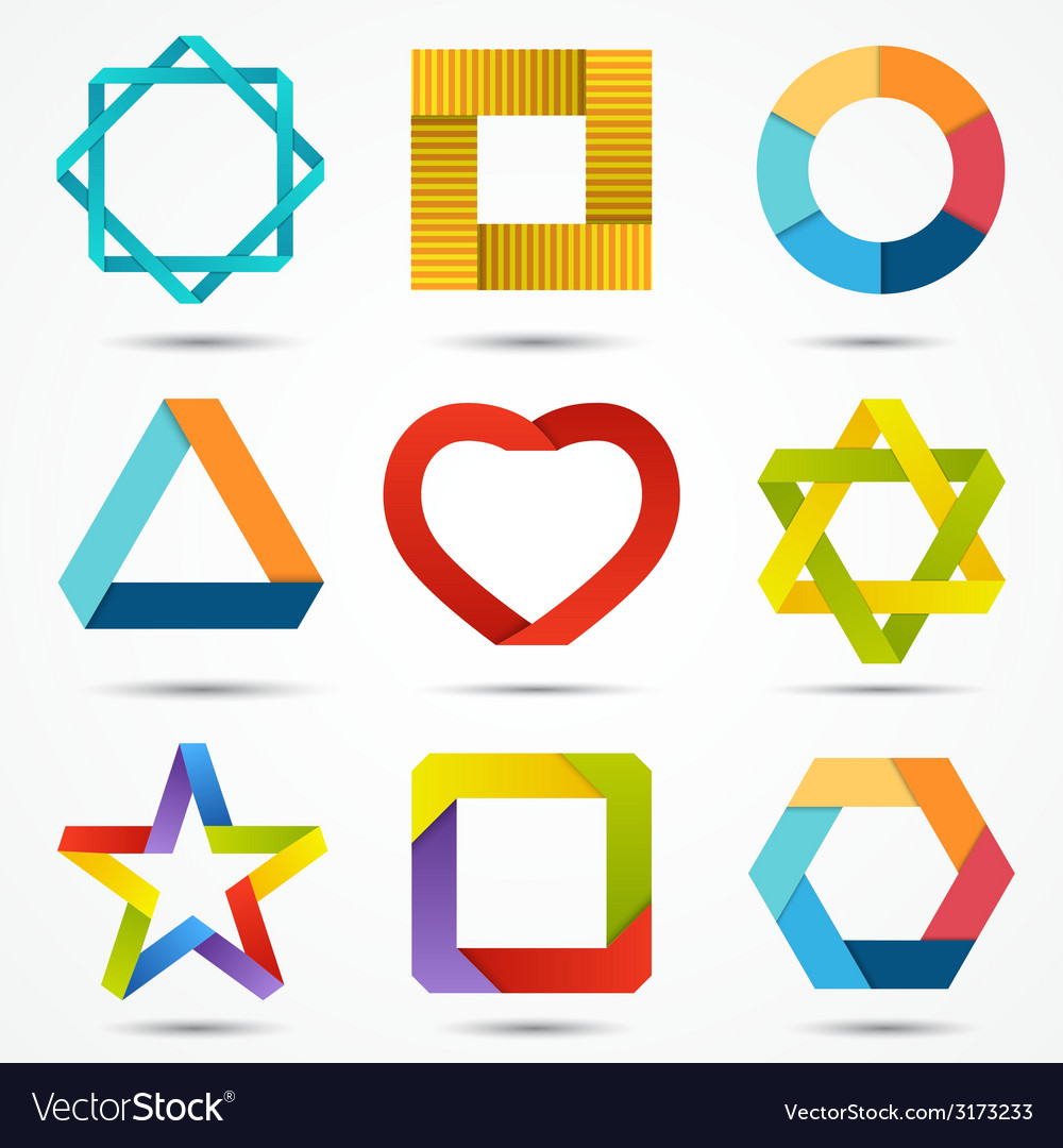 Abstract creative signs and symbols set logo vector | Price: 1 Credit (USD $1)