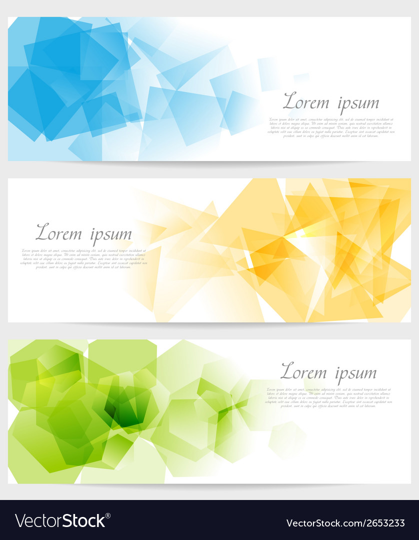 Abstract tech colorful banners vector | Price: 1 Credit (USD $1)
