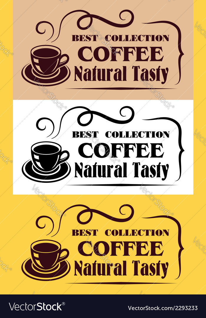 Best collection coffee labels vector | Price: 1 Credit (USD $1)