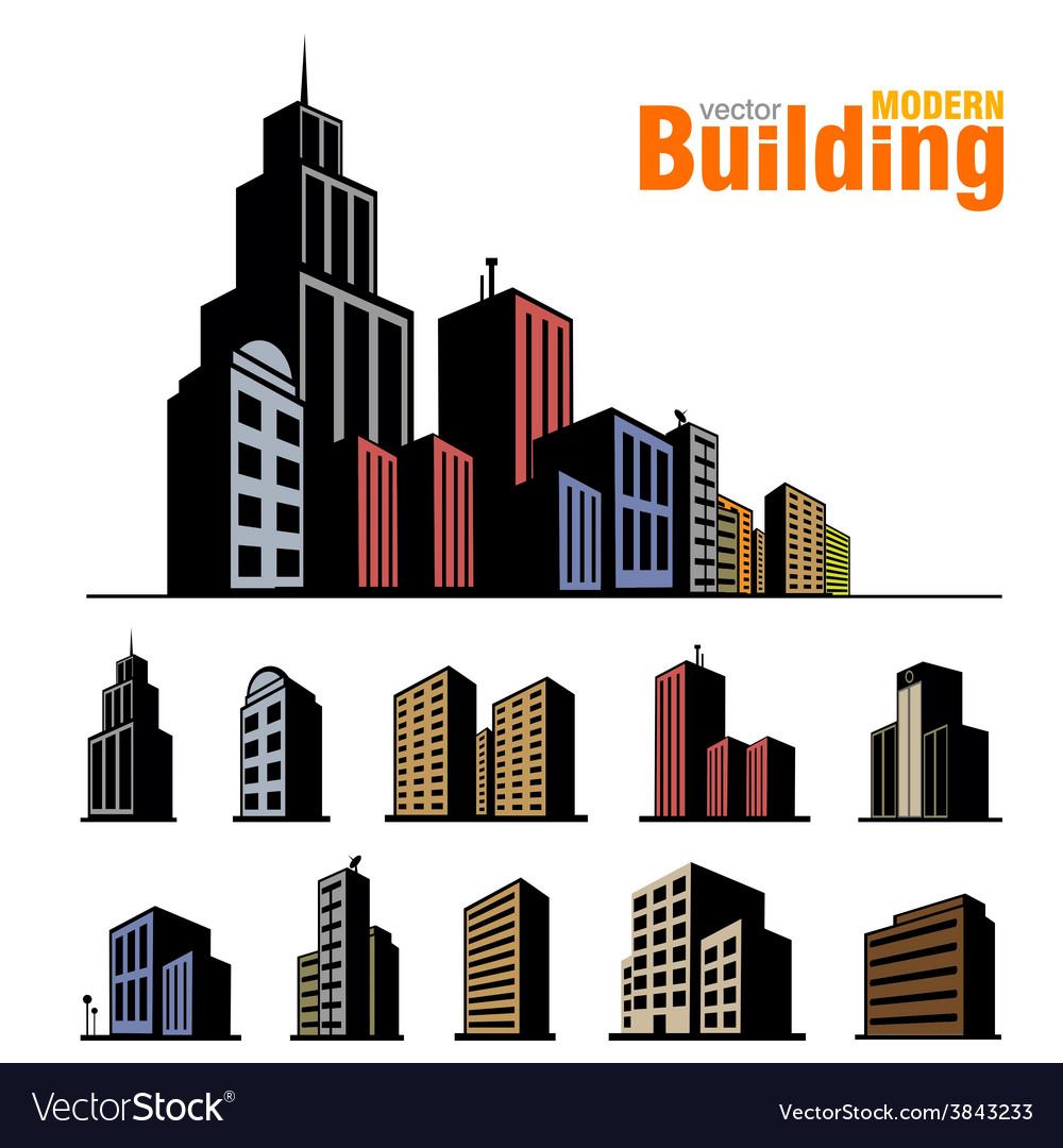 Building set vector | Price: 1 Credit (USD $1)