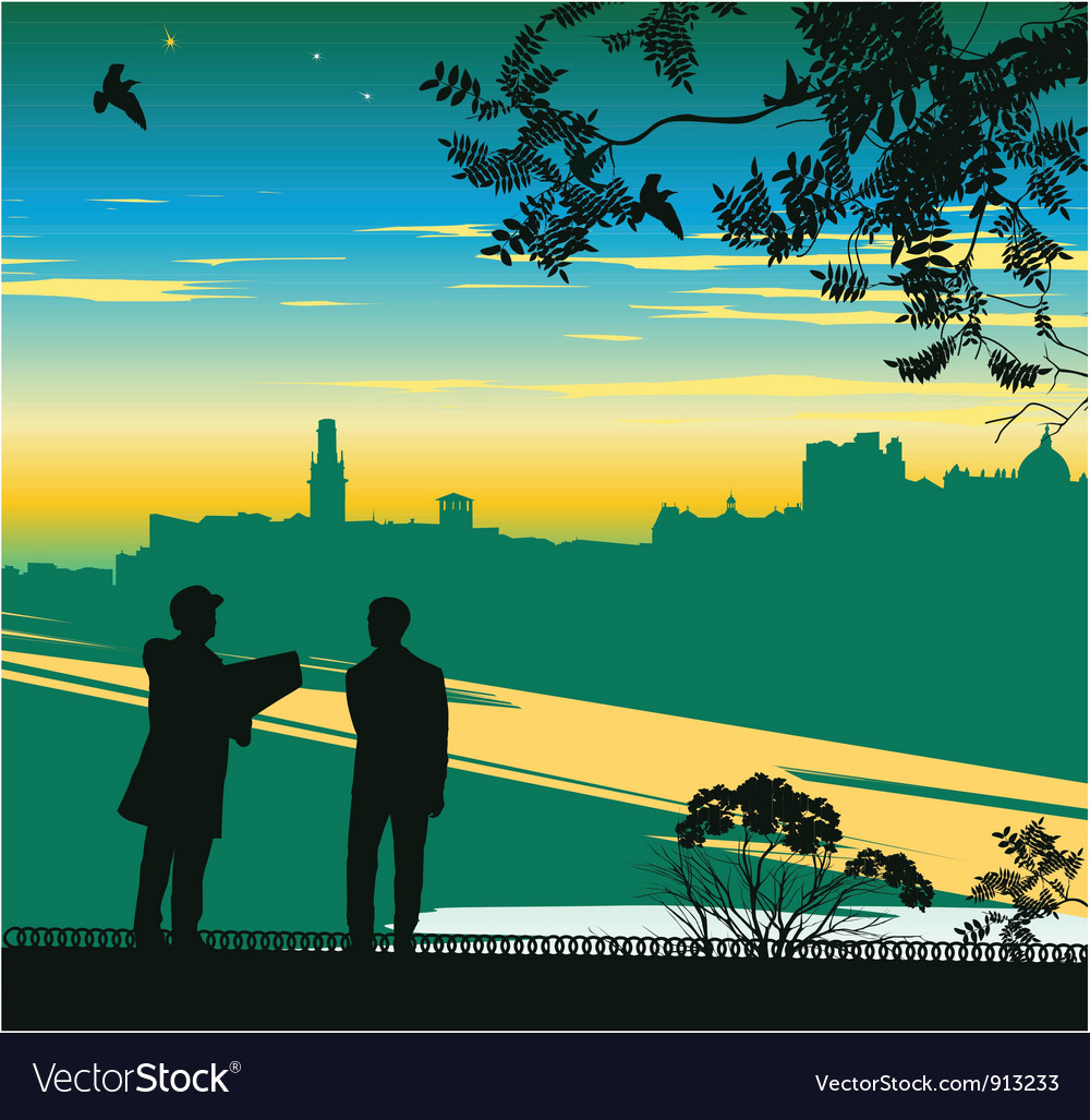 Businessman horizon vector | Price: 1 Credit (USD $1)