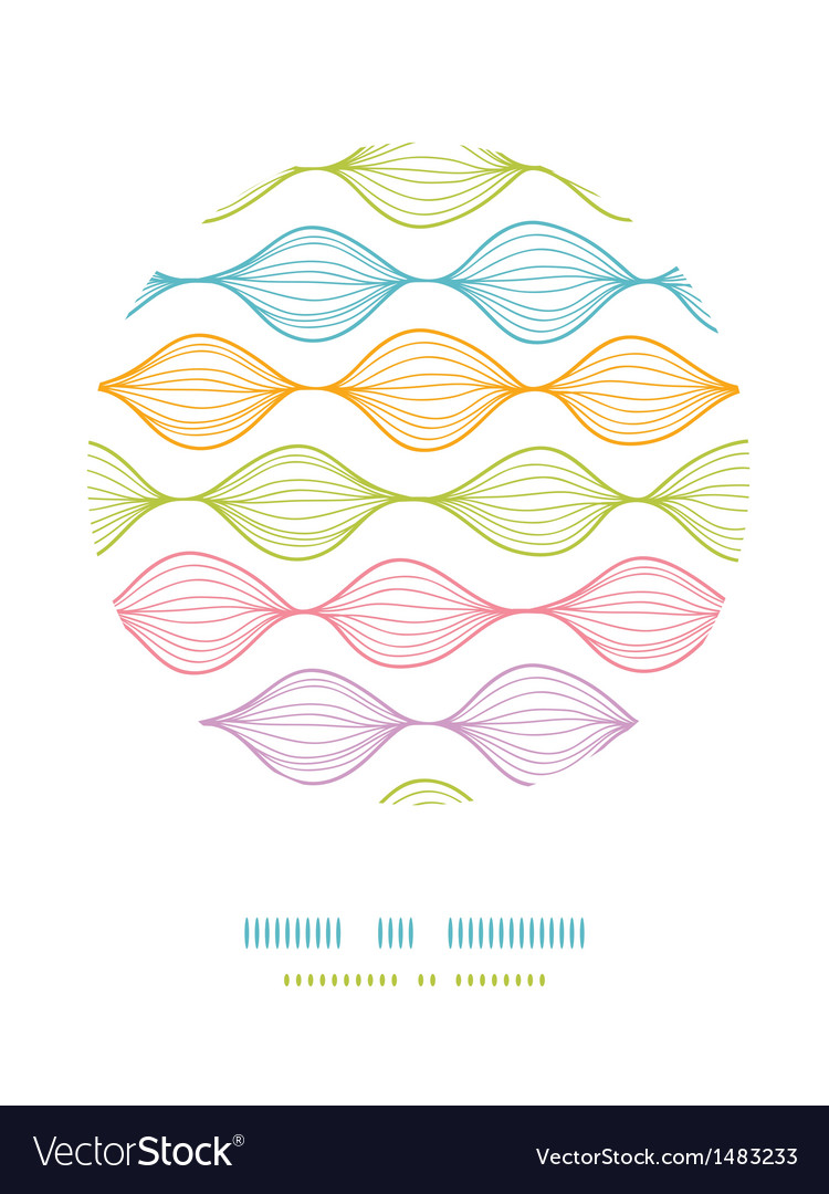 Colorful ogee horizontal striped circle decor vector | Price: 1 Credit (USD $1)