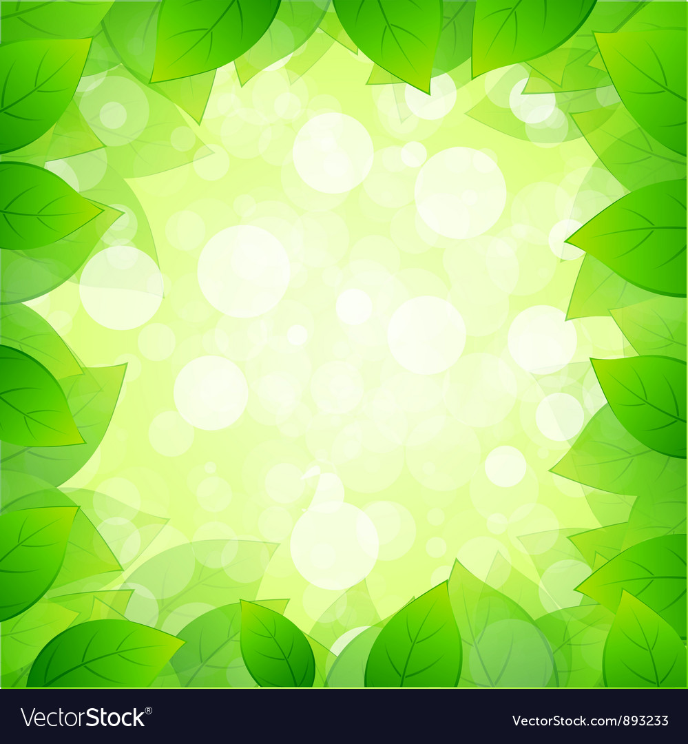Green framing with leaves vector | Price: 1 Credit (USD $1)