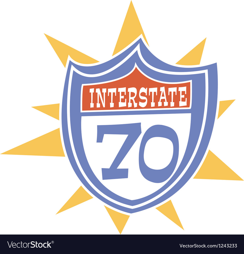 Interstate retro sign vector | Price: 1 Credit (USD $1)