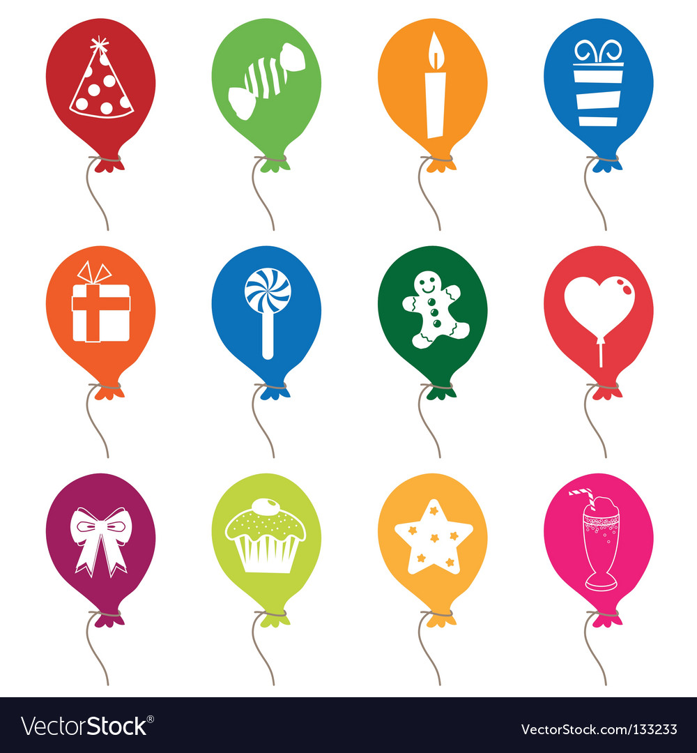 Party balloons vector   Price: 1 Credit (USD $1)