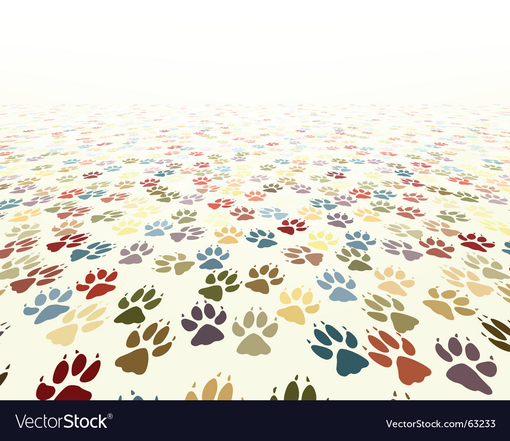 Paw floor vector | Price: 1 Credit (USD $1)