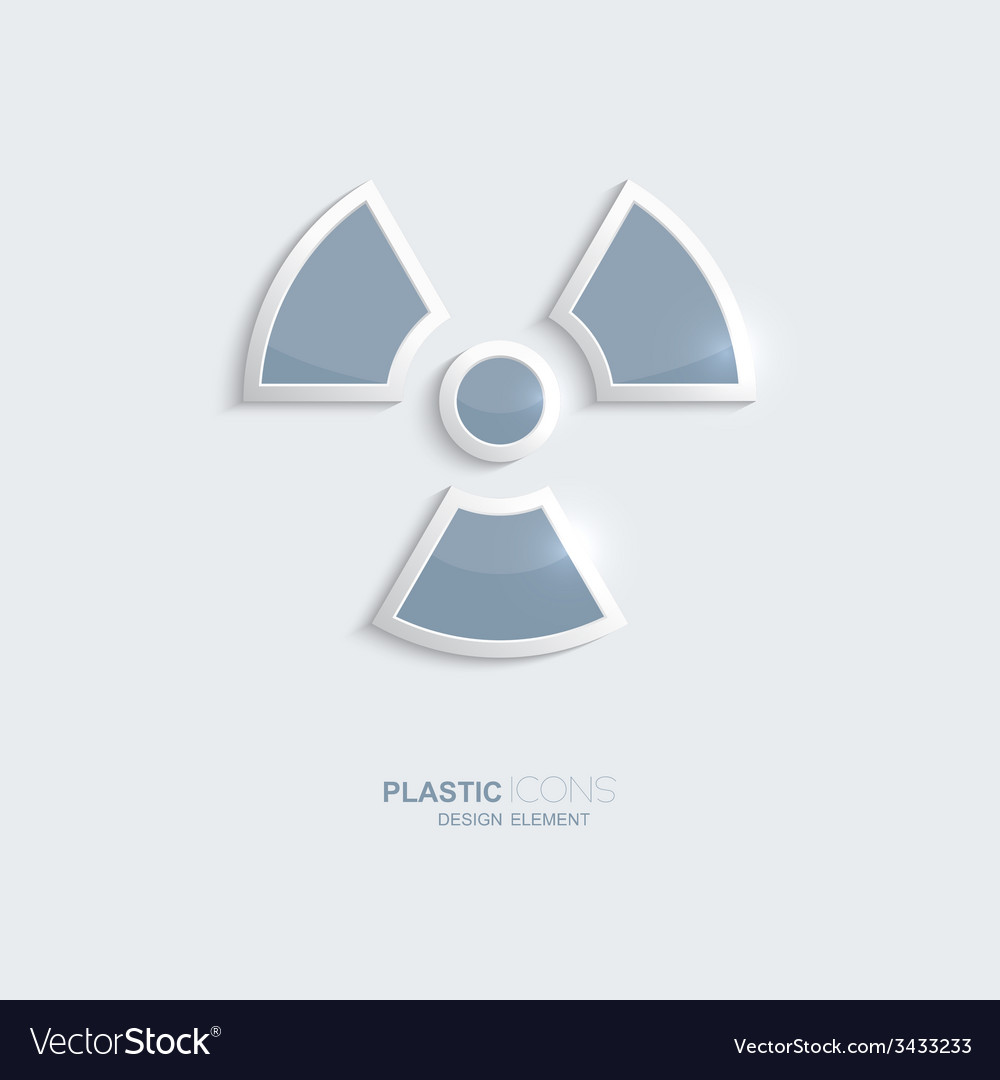 Plastic icon radiation symbol vector | Price: 1 Credit (USD $1)